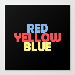 Red Yellow Blue Canvas Print