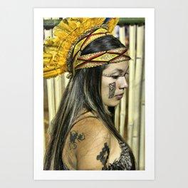 Natural beauty (no retouch) Art Print