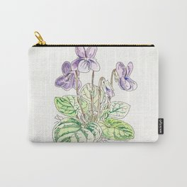 Viola Odorata Carry-All Pouch