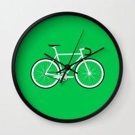Green Fixed Gear Road Bike Wall Clock