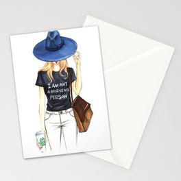 I am not a Morning Person Stationery Cards