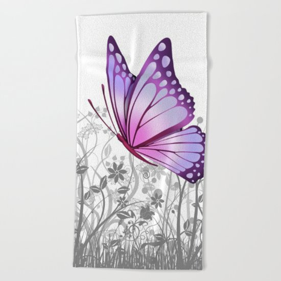 Fantasy Butterfly #8 Beach Towel