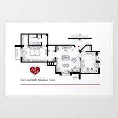 Lucy and Ricky Ricardo home from 'I LOVE LUCY' Art Print