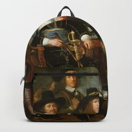 Abraham Liedts - Officers and Guardsmen of the Company of Dirck Claesz Veen militia in Hoorn Backpack