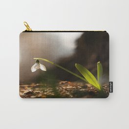 Light In Shade. Snowdrop Flower Bathing In Sun #decor #society6 Carry-All Pouch