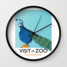 Visit the Zoo Peacock edition Wall Clock