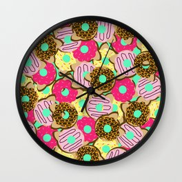Dough Cats Wall Clock