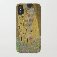 gustav klimt iPhone & iPod Cases featuring The Kiss - Gustav Klimt by Elegant Chaos Gallery