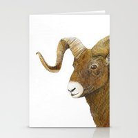 ram Stationery Cards featuring Ram by Jan Elizabeth