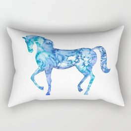 Blue horse in my dreams Rectangular Pillow