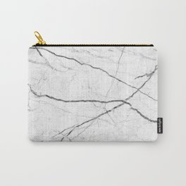 preppy minimalist modern chic grey white marble Carry-All Pouch