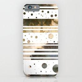Geometric Stripes in Earth Tones iPhone Case
