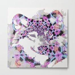 fractal wolf Metal Print