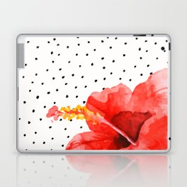 Tropical flower on dots Laptop & iPad Skin