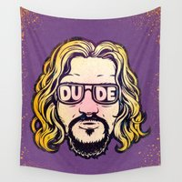 the dude Wall Tapestries featuring Dude by Beery Method