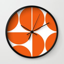 Mid Century Modern Orange Square Wall Clock