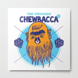 Hipster Chewie Metal Print