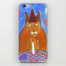 birthday cat or the fish cake iPhone Skin