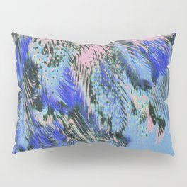 feather texture in blue and light pink Pillow Sham