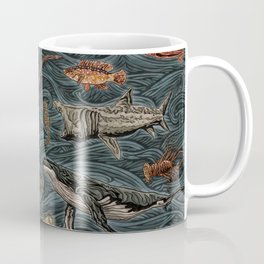 Sea & Ocean Life Maritime Pattern Coffee Mug