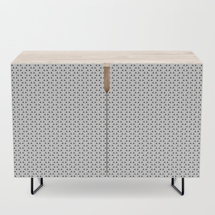 Black and White Basket Weave Shape Pattern - Graphic Design Credenza