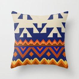 Aztec Folk Art Throw Pillow