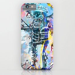 A digitally and roughly vectorised Jean Michel Basquiat iPhone Case