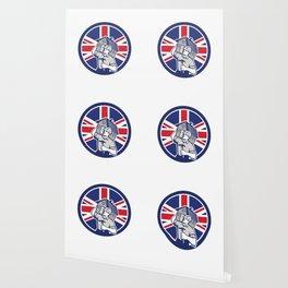 British Building Contractor UK Flag Icon Wallpaper