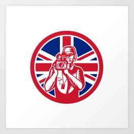 British Cameraman Union Jack Flag Icon Art Print