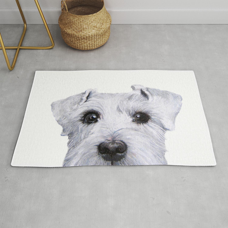 Schnauzer White Dog Original Painting