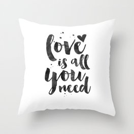 LOVE WALL DECOR, Love Is All You Need,Family Sign,Family Gift,Living Room Decor,Boyfriend Gift,Coupl Throw Pillow