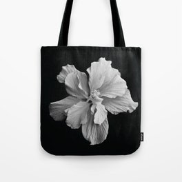 Hibiscus Drama - Black and Grey Tote Bag