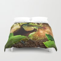 toucan Duvet Covers featuring Toucan by MG-Studio