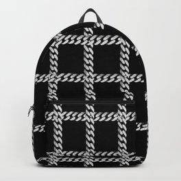Chain Plaid on Black Backpack