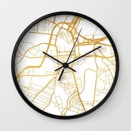 BELFAST UNITED KINGDOM CITY STREET MAP ART Wall Clock