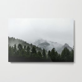 Faded Forest Landscape Metal Print