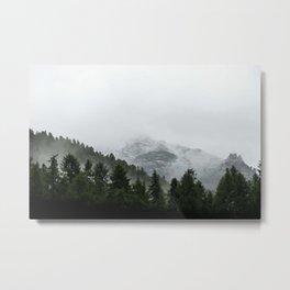Faded Forest Landscape Metal Print