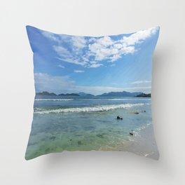 Lindquist Beach St. Thomas, Virgin Islands Throw Pillow