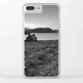 Old Cottage at Loch Stack Clear iPhone Case