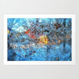 Frozen window Art Print