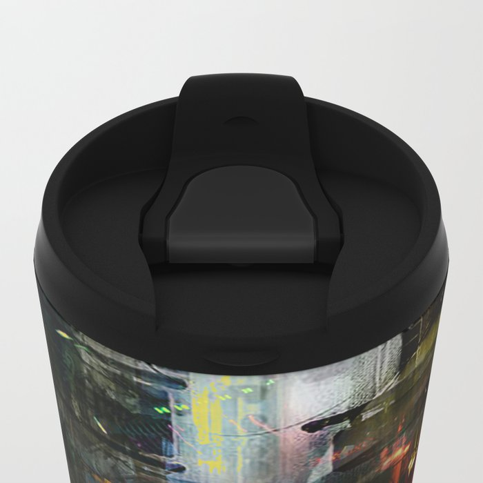 Astronaut in the city Metal Travel Mug