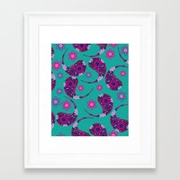 paisley Framed Art Prints featuring Paisley by luizavictoryaPatterns