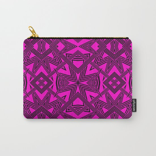 Ziggy Zaggy     Pink And Black Carry-All Pouch