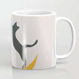Moon and Cat Coffee Mug