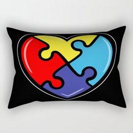Autism Heart Puzzle Autism Awareness Gift Rectangular Pillow