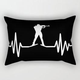 Biathlon frequency Rectangular Pillow