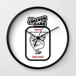 The Chicken Game Wall Clock