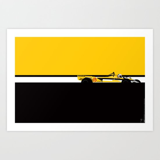 Alain Prost, Renault RE30, 1981 Art Print