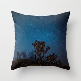 Midnight Stars at Joshua Tree Throw Pillow