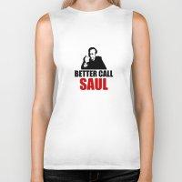 better call saul Biker Tanks featuring Better Call Saul  by Freak Clothing